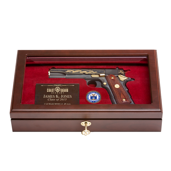 2019 Coast Guard Academy Class Pistol Display Case - Glass Top
