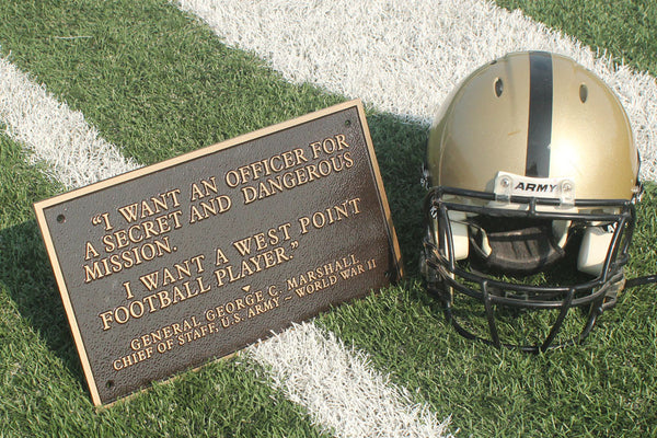 West Point full size football plaque - I want a West Point Football player