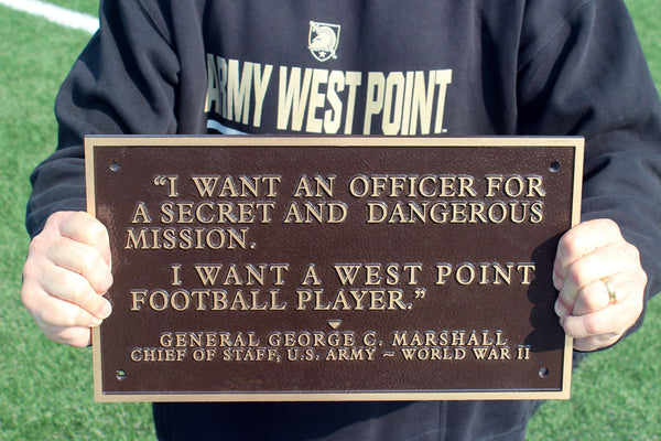 I Want A West Point Football Player Full Size Bronze