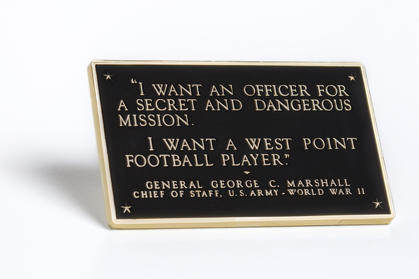 General Marshall Plaque Brass-Plated Paperweight