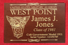 West Point Class of 1981 Class Pistol Display Case - Engraved Top