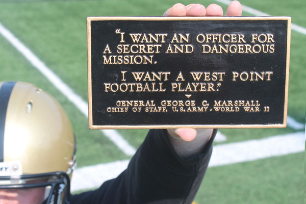 I Want A West Point Football Player Half Size Resin Plaque