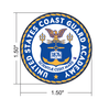 2019 Coast Guard Academy Dual Class Pistol Display Case - Engraved Top