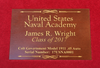 Naval Academy Pistol Display Case Personalized Placard