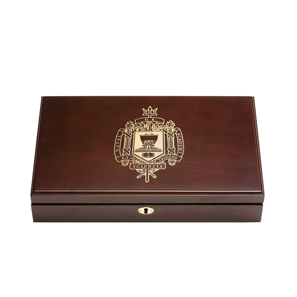 Naval Academy Engraved Top Pistol Display Case