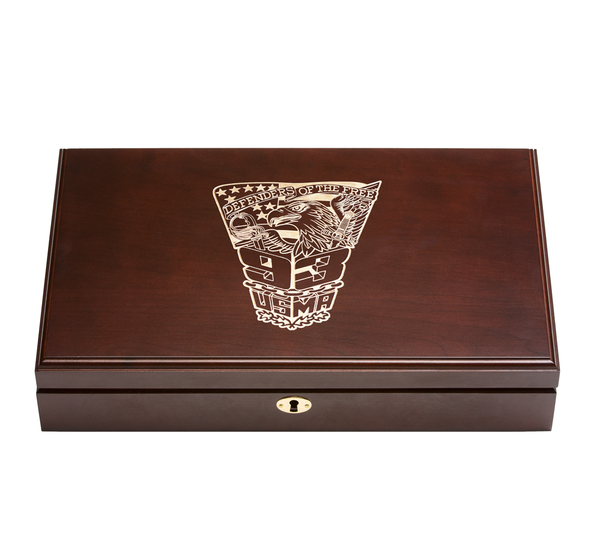 West Point Class of 1993 Class Pistol Display Case - Engraved Top