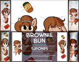 Brownie Bun Dakimakura by TJ Pones