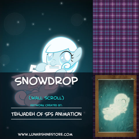 Snowdrop Wall Scroll by SFS Animation