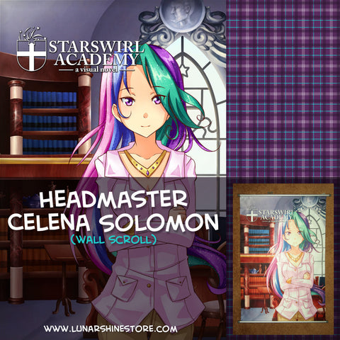 Starswirl Academy - Headmaster Celena Solomon Wall Scroll