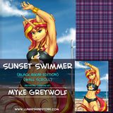 Sunset Swimmer by Myke Greywolf
