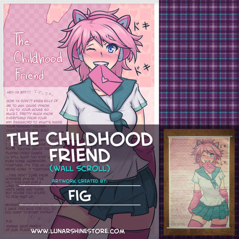 The Childhood Friend Wall Scroll by Fig