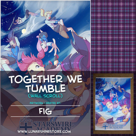 Starswirl Academy: Together We Tumble Wall Scroll