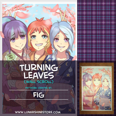Turning Leaves Wall Scroll by Fig