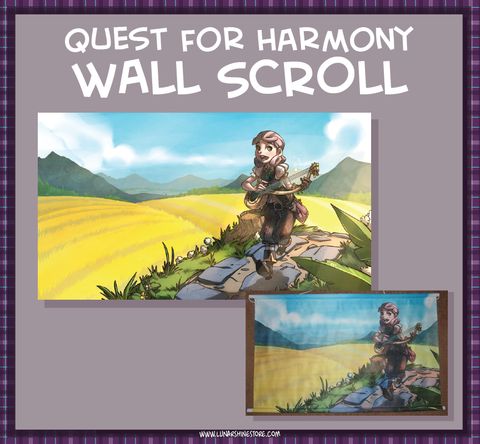 Quest for Harmony: Belle the Bard Wall Scroll