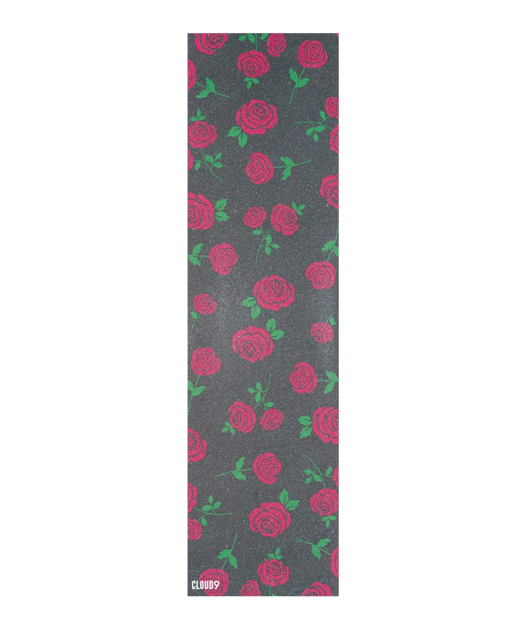 Cloud 9 Griptape Roses Skateboard Grip Tape - Front