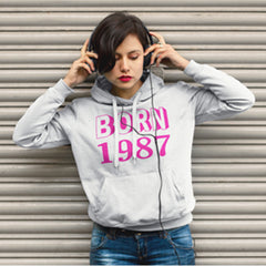 Hooded Sweatshirt Woman Born in 1987