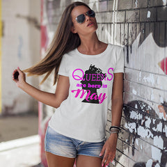 "T-Shirt Woman ""QUEENS ARE BORN IN MAY"""
