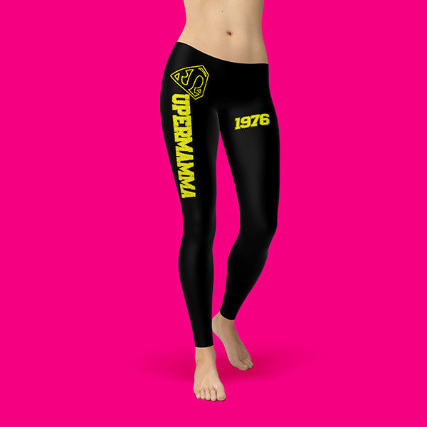 "Legging Cotton Stretch Customizable - SUPERMAMMA - ""BE TRUE TO ...."""
