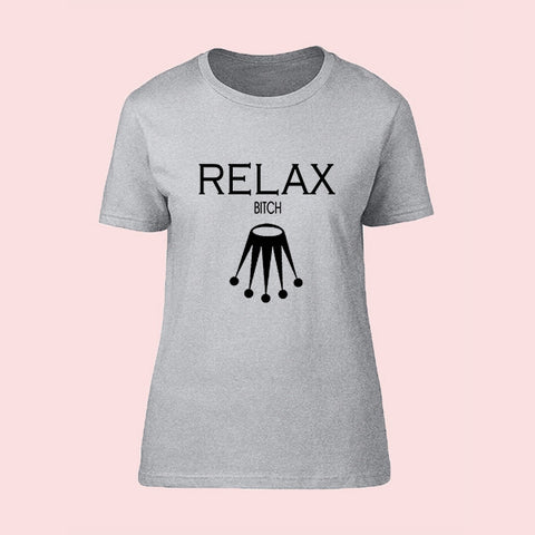 "T-Shirt Woman ""RELAX BITCH"""