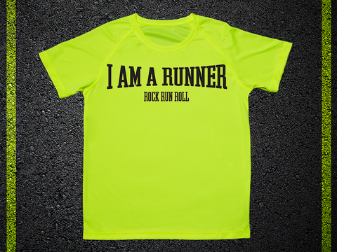 T Tecnica Shirt I Am A Runner Rock Run Roll