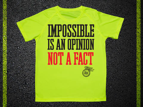 T Shirt Tecnica Impossible Is An Option Not A Fact