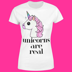 "T-Shirt Woman ""UNICORN ARE REAL"""