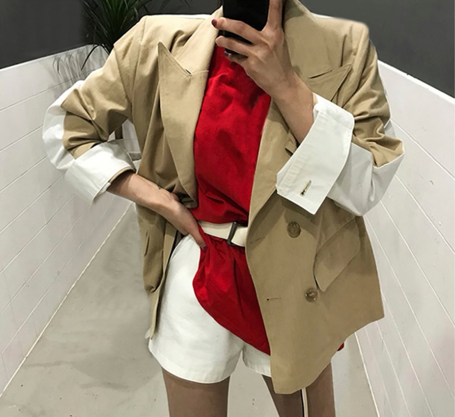 Double Breasted Shirt Blazer