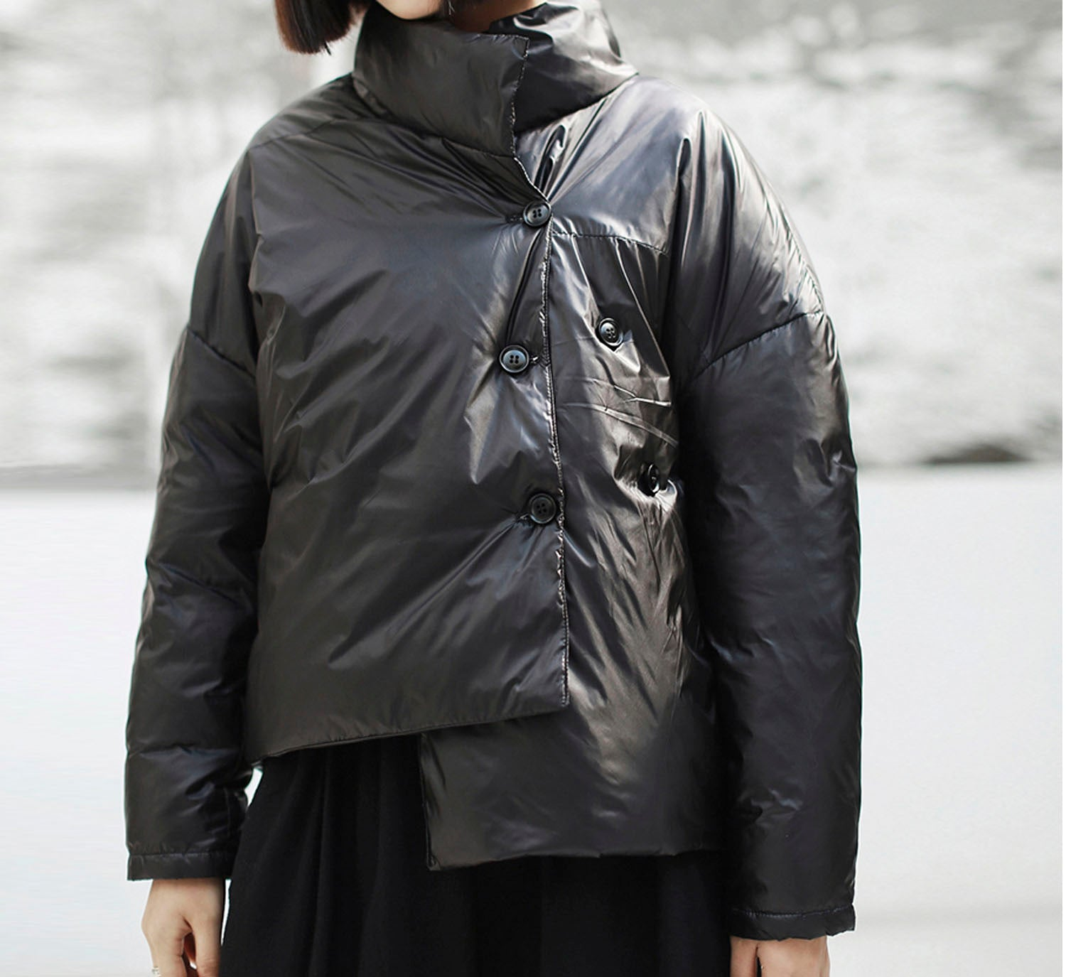 Side Buttoned Puffer