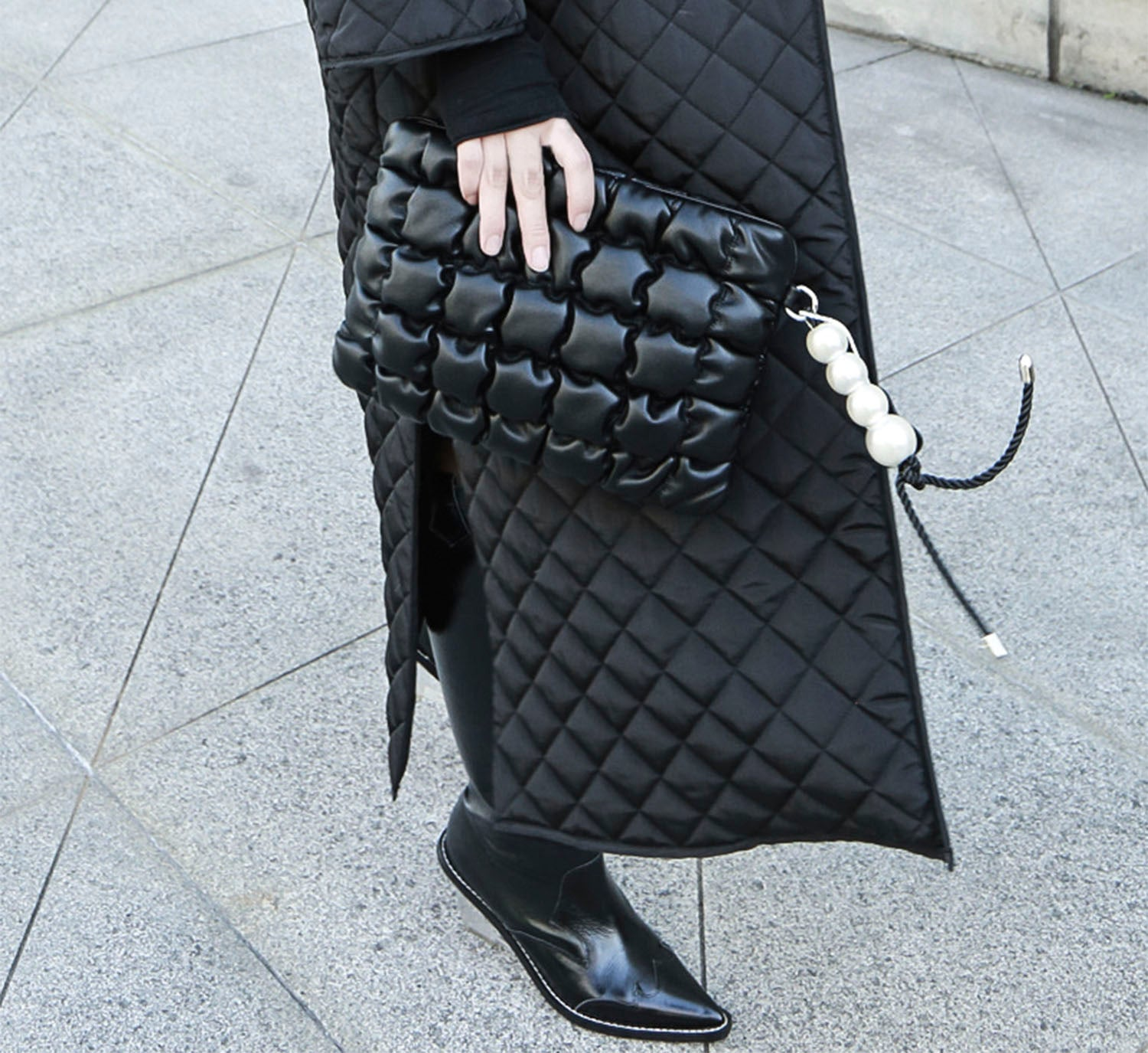Quilted Pearl Clutch
