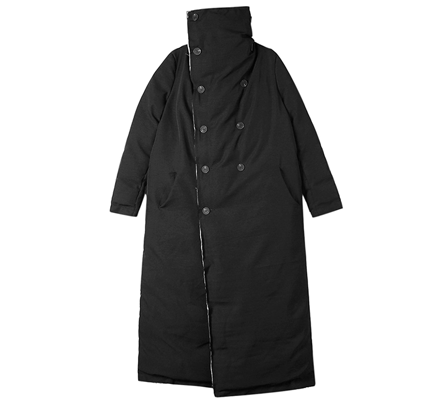 Double Breasted Long Puffer Coat