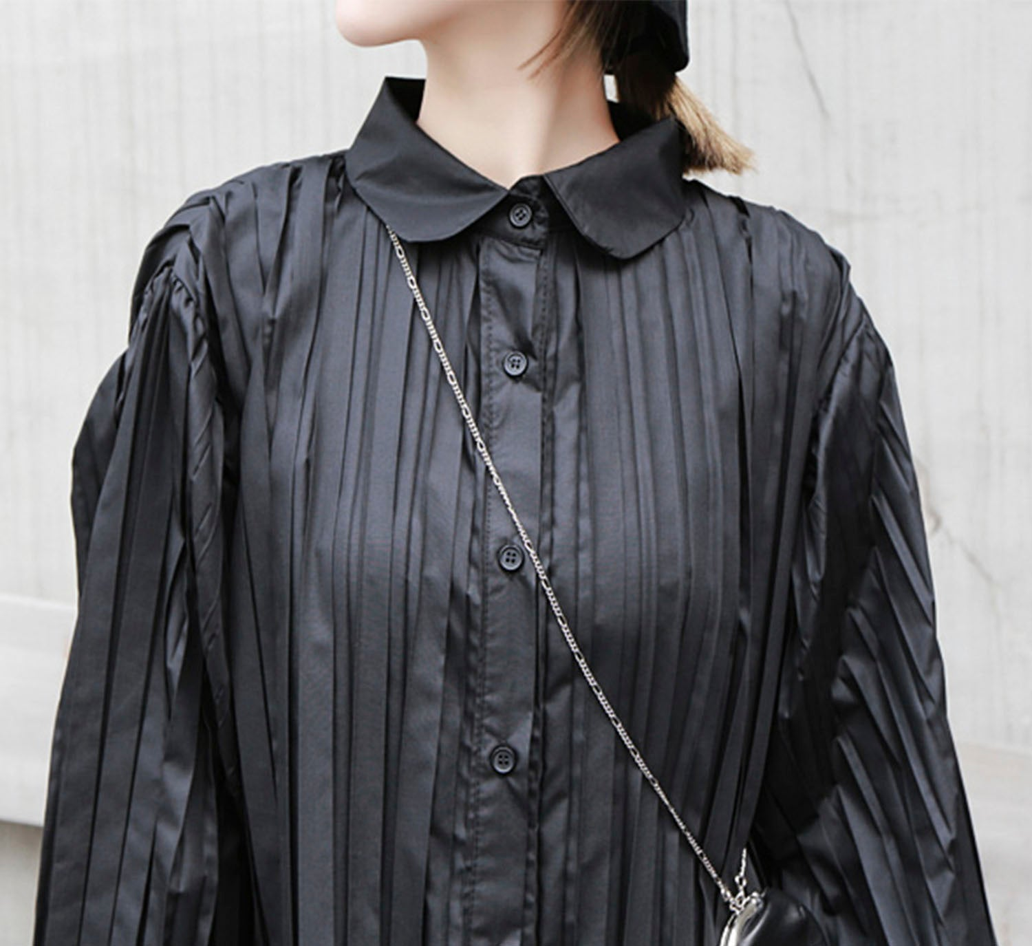 Pleated Duster Dress