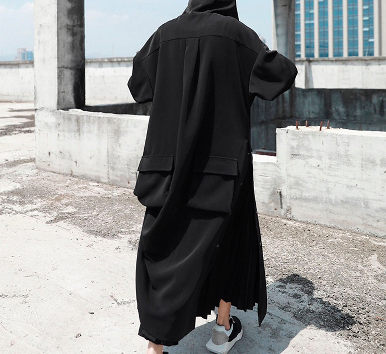 Hooded Snap Duster Coat