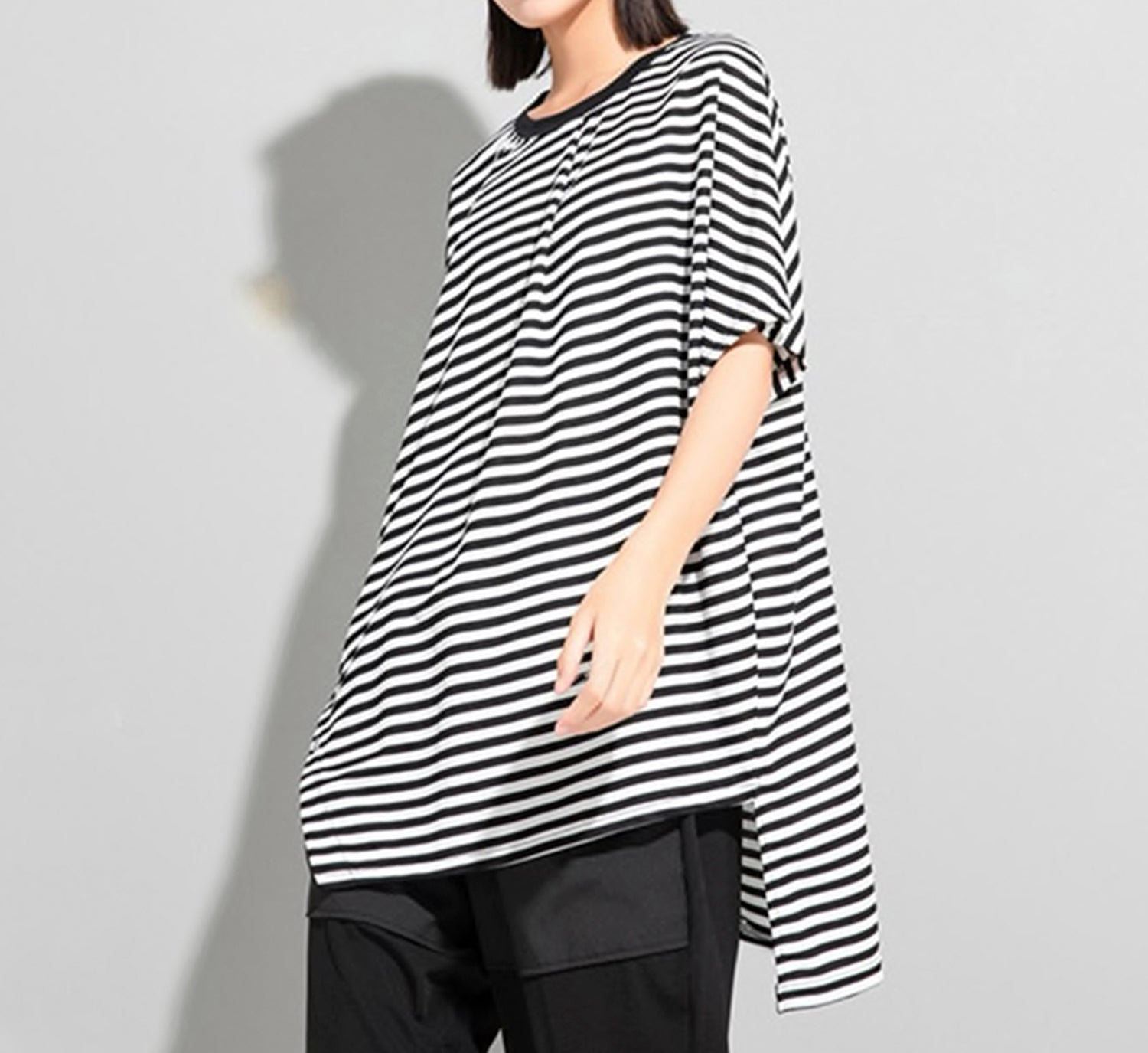 Stripe Dolman Sleeve Sweater