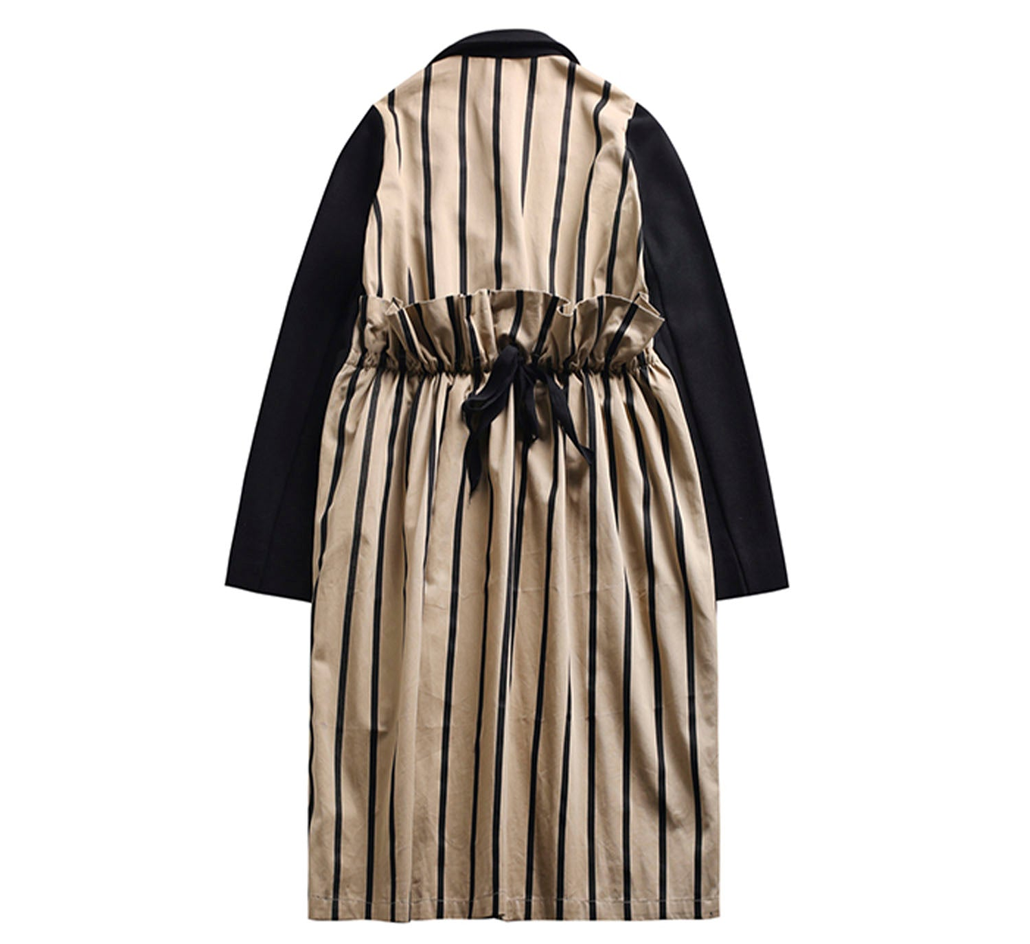 Coat with Back Shirred Striping