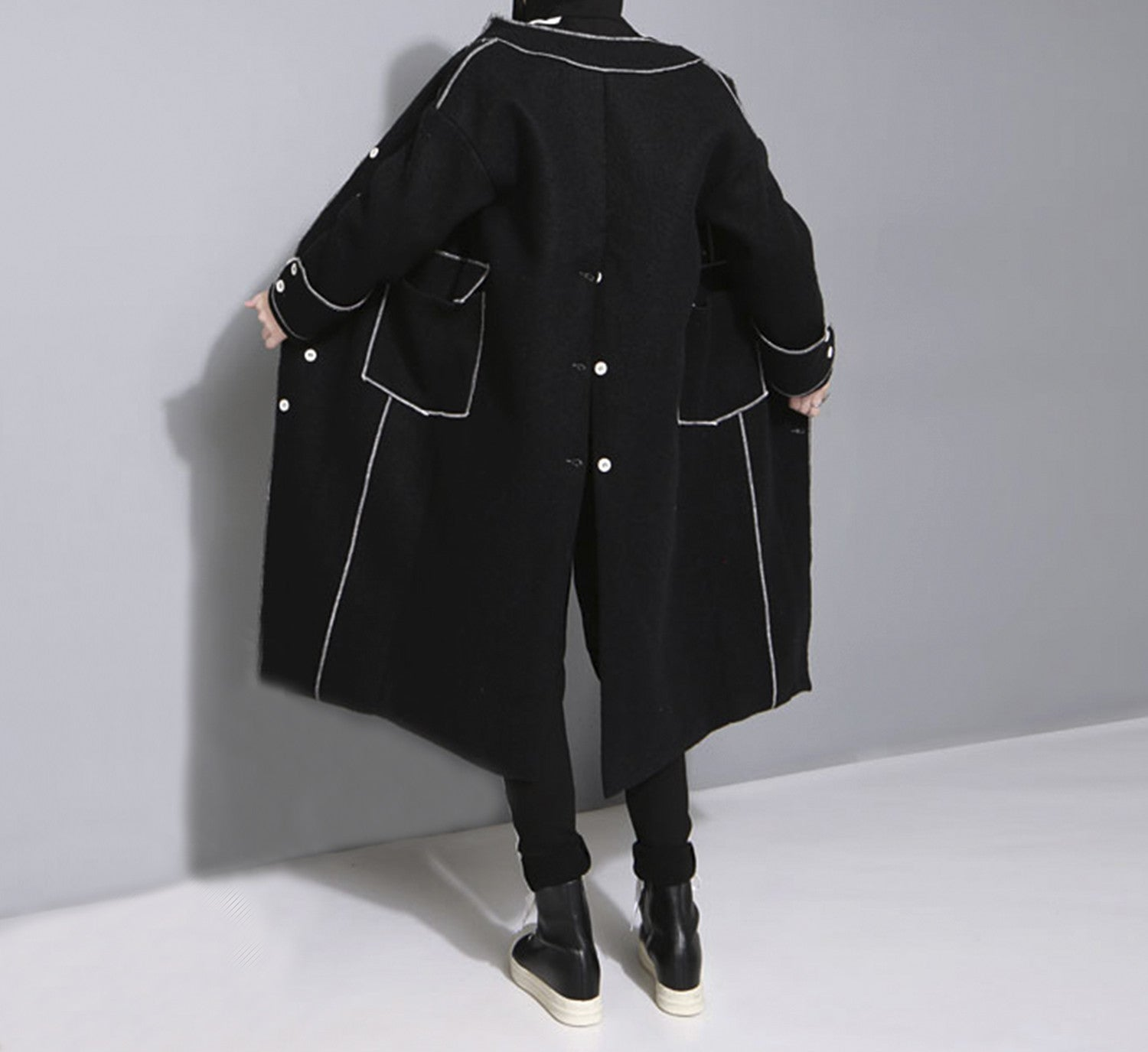 Contrast Stitch Coat