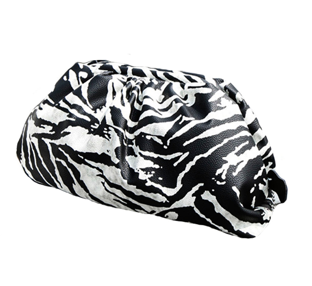 Zebra Ruched Clutch