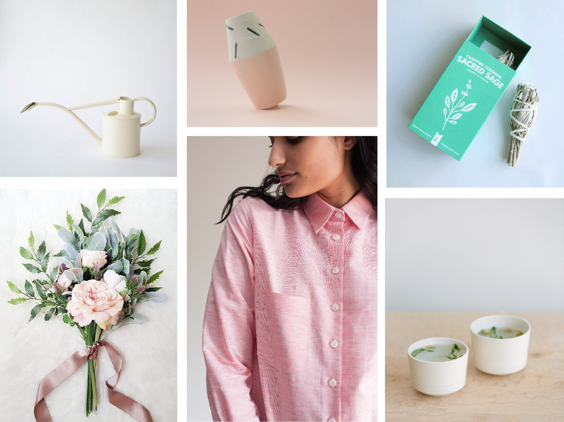 The Florist Women's linen shirt curated with Canadian products