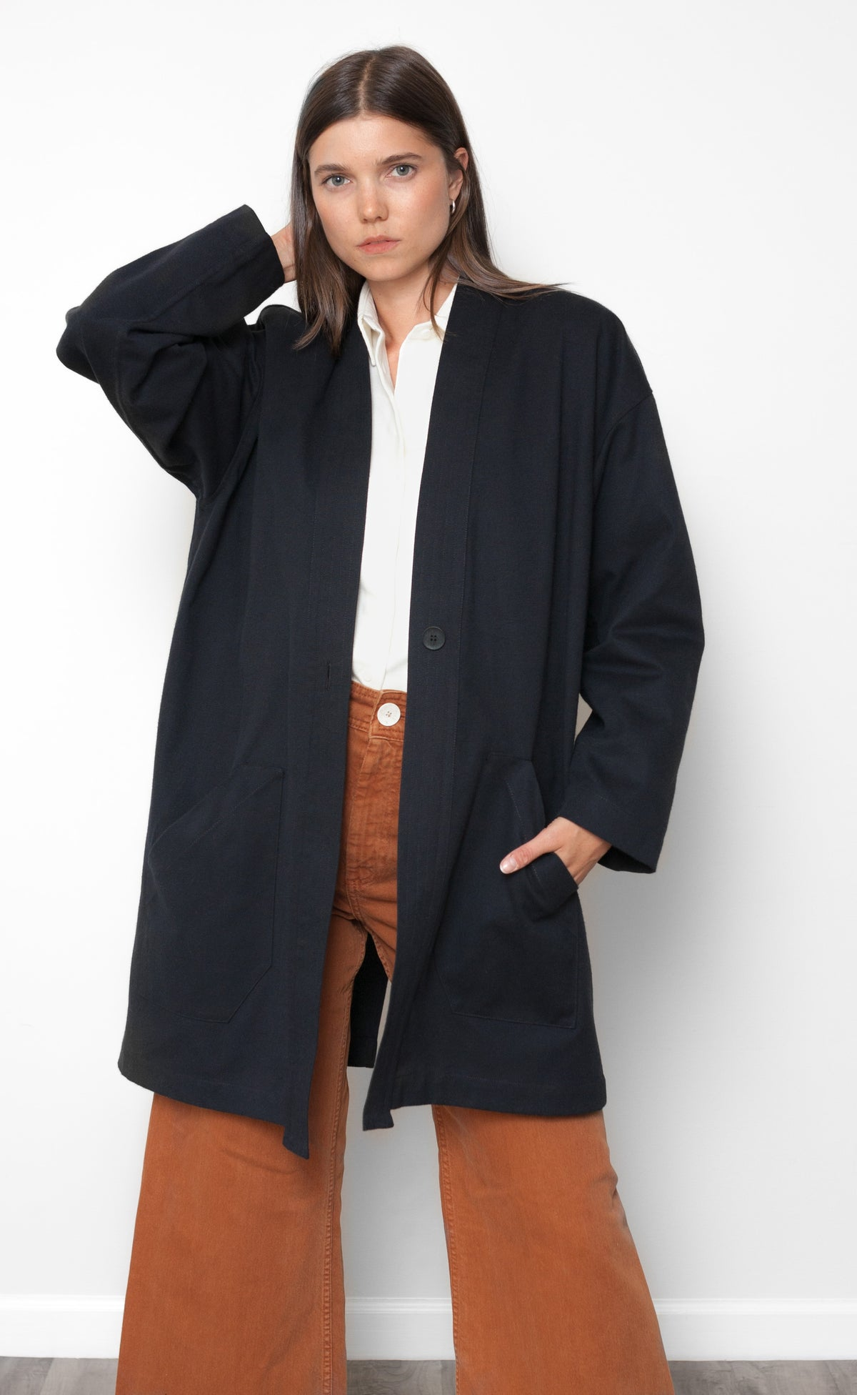 The Dame - Long Sleeve Duster Coat