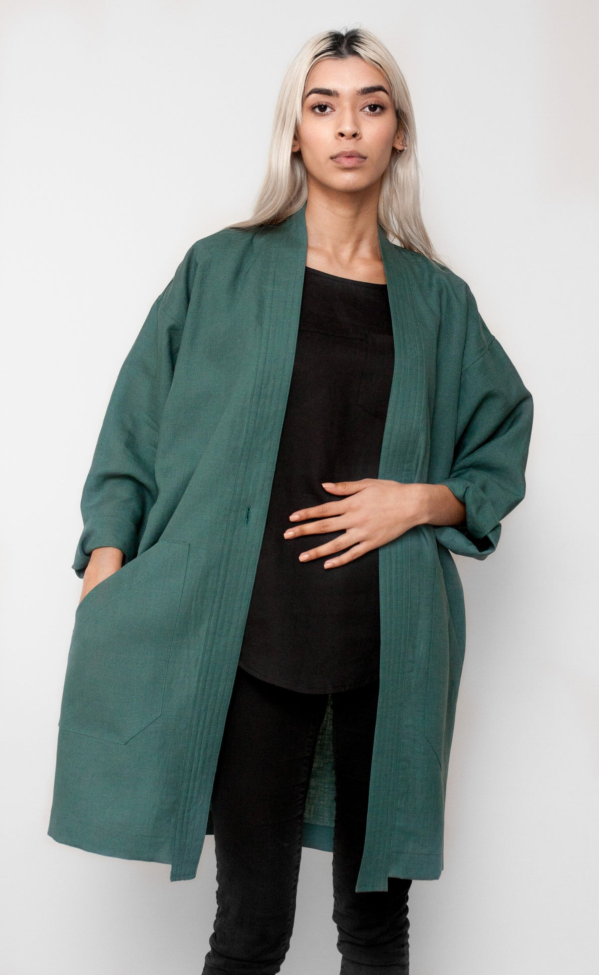 STUDIO Long Sleeve Duster Coat