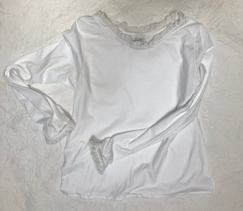 Braille Top in White