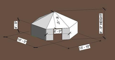 8' Tall Hexayurt: Level 1 Package