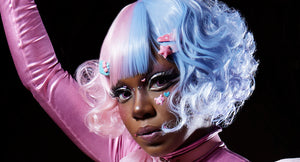 Dolly Momoiro Wearing Cotton Candy Wig