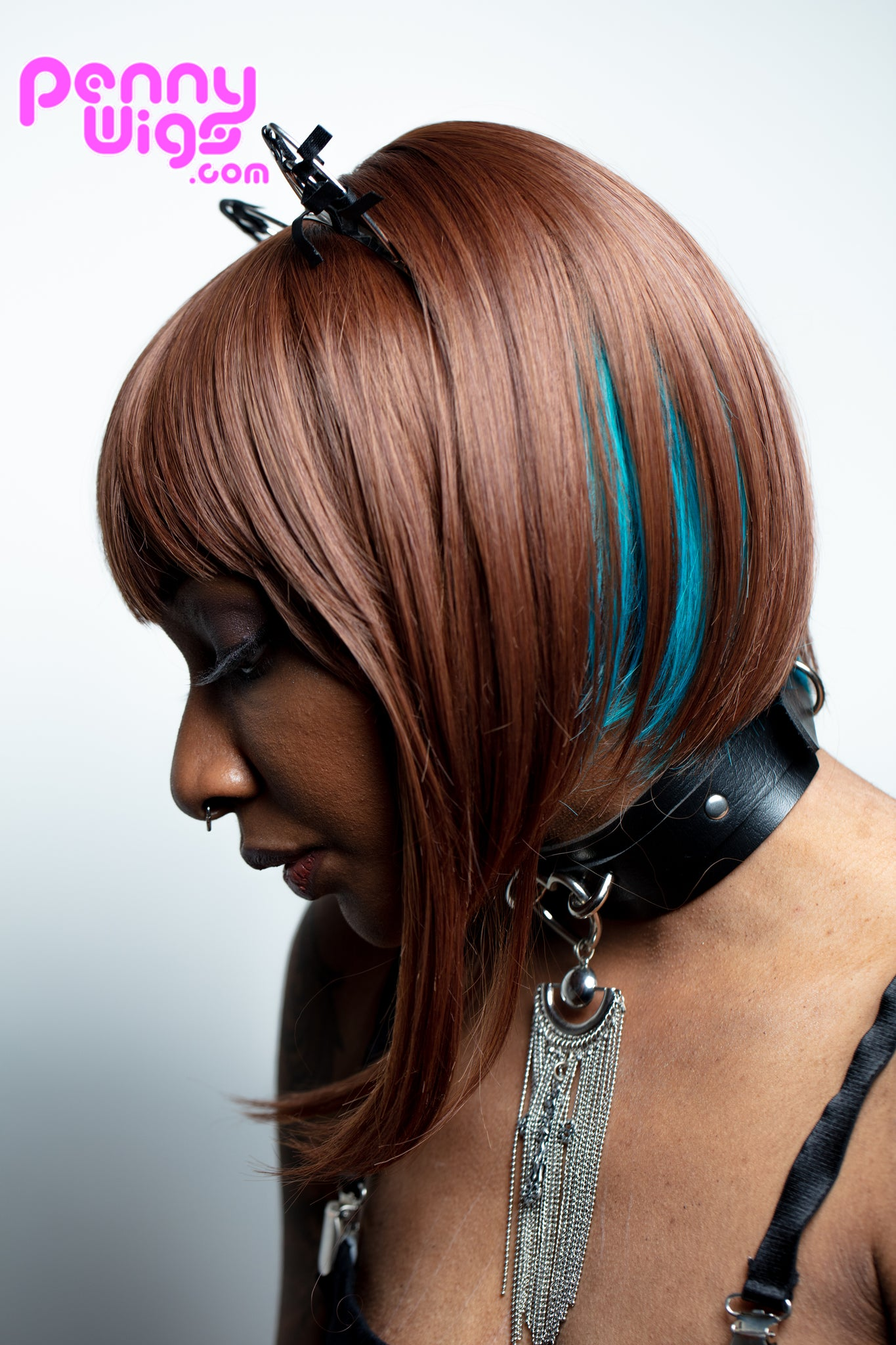 Vilana - Teal/Brown Full Wig - Penny Dreads & Wigs