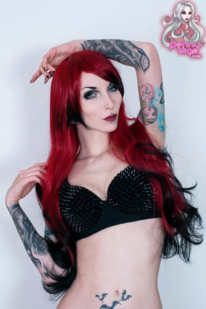Deadly - Red/Black Long Ombre Wig - Penny Dreads & Wigs
