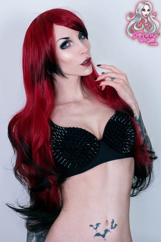 Deadly - Red/Black Long Ombre Wig
