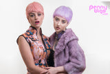 pastel pink & purple pixie cut wig