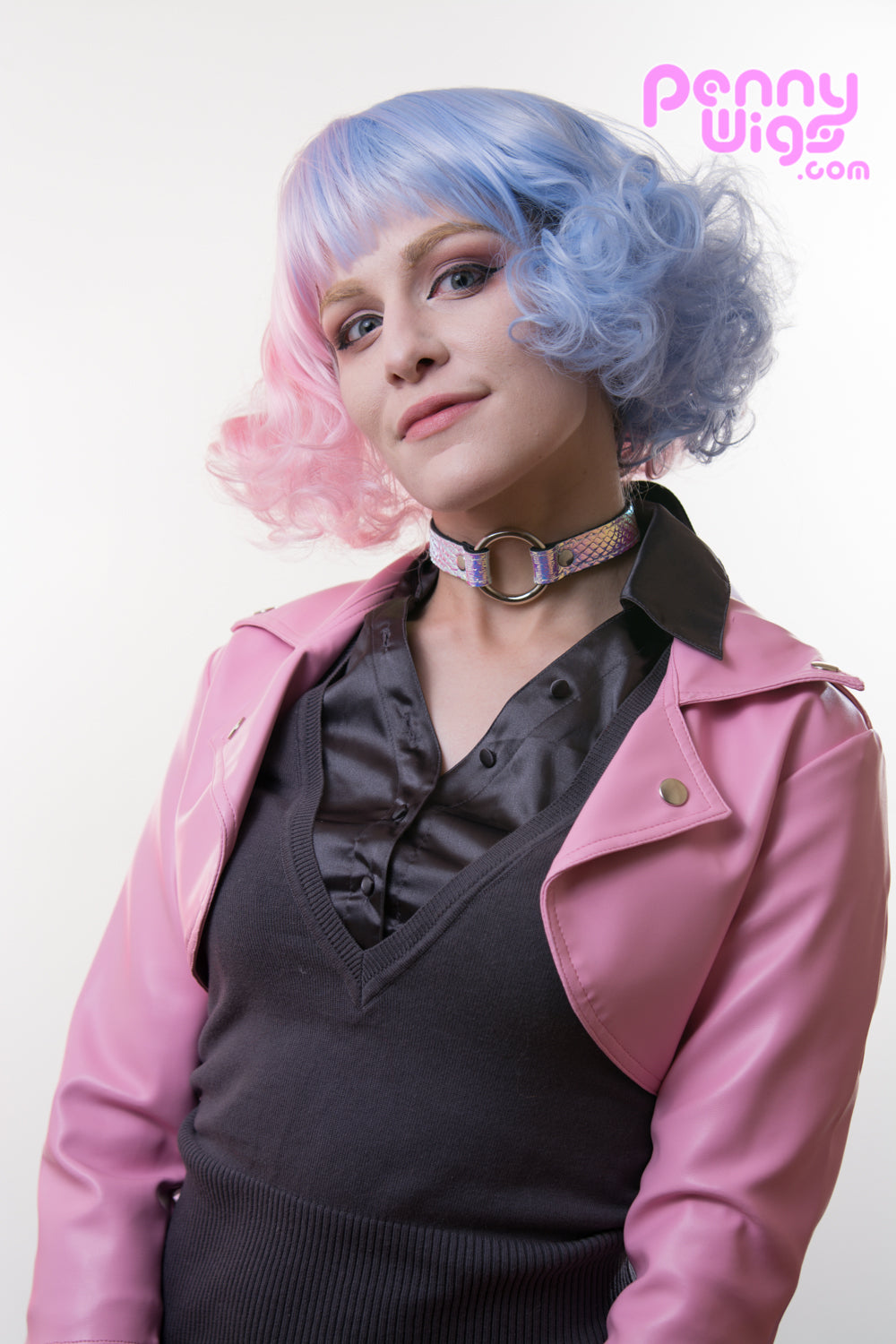 Miss Cotton Candy - Pink/Blue Split Color Full Wig - Penny Dreads & Wigs
