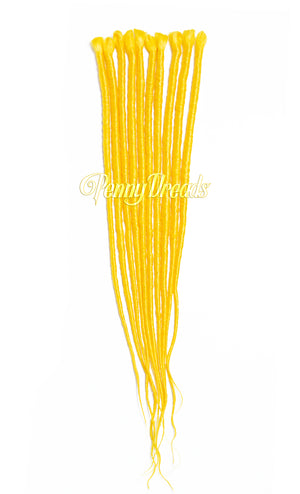 "Yellow Single Ended Synthetic Dreadlock Extensions 20"" - Penny Dreads & Wigs"