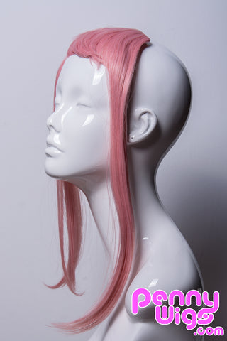 Pastel Pink Clip-in Bangs (Long Sides)