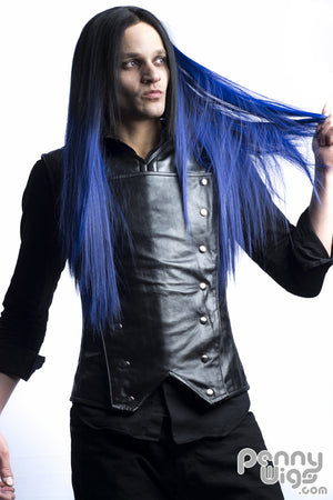 Midnight Blue Invisible Straight U-Part Wig - Penny Dreads & Wigs